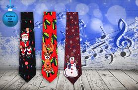 £4.99 instead of £14.99 (from London Exchainstore) for a novelty musical Christmas tie - save 67%