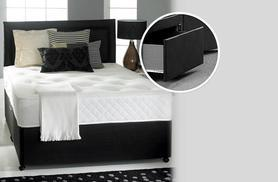 From £199.95 (with Fishoom) for a divan bed and memory sprung mattress, or from £249.95 with 2 accompanying storage drawers - save up to 78%