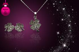 £8 instead of £49 (from Aspire) for a four leaf clover necklace made with Swarovski Elements, £14 inc. matching earrings - save up to 84%