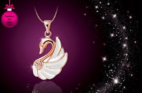 £7 instead of £40 (from Cian Jewels) for a swan necklace made with Swarovski Elements - save 82%