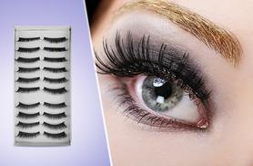 £6 instead of £49.95 (from SalonBoxed) for 10 pairs of reusable false eyelashes, £8 for 20 - save up to 88%