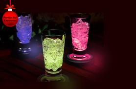 £6.99 instead of £19.99 (from Groundlevel) for a set of 4 LED coasters, or £11.99 for 8 - light up your drinks and save up to 65%