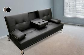 £139 instead of £385 (from Sleep Solutions) for a faux-leather cup-holding sofa bed in a choice of 2 colours - save 64%