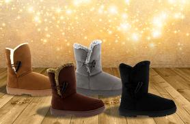 From £15 instead of £26.01 (from Shubox) for a pair of toggle winter boots in a choice of colours – save up to 42%
