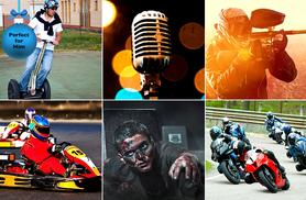 £24 for a choice of 6 stocking filler experiences inc. paintballing, go-karting and more with Activity Superstore - let them choose their own adventure this Xmas!