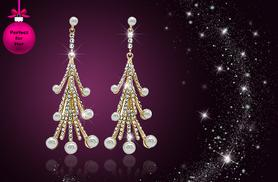£8 instead of £50 (from Cian Jewels) for a pair of crystal Christmas tree drop earrings - save 84%