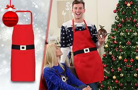 £6.99 instead of £19.99 (from London Exchainstore) for a red Christmas apron - save 65%