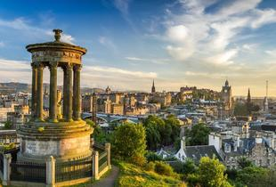 £49 (at Britannia Hotel, Edinburgh) for a 1-night stay for 2 people including a bottle of wine, late check-out and breakfast, from £79 for 2 nights
