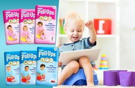 £9.99 for a 48-pack of small Huggies® Pull-Ups, a 42-pack of medium Pull-Ups or a 36-pack of large Pull-Ups from Wowcher Direct