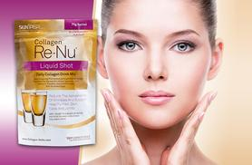 £7.99 instead of £89.99 (from SkinPep) for a 1-week* supply of Re-Nu liquid collagen shot mix, £13.99 for a 2-week* supply - save up to 91%