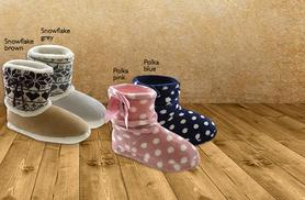 £6 instead of £19 (from Urshu) for a pair of fleece-lined bootie slippers - choose from 15 designs & save 68%