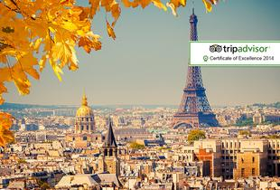 From £119pp instead of up to £185.28pp (with ClearSky Holidays) for a 2-night Paris break including flights, from £189pp for 3 nights - save up to 36%
