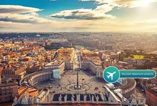 From £79pp instead of up to £170.37pp (from KPX Travel) for a two-night 4* Rome getaway including return flights and hop on hop off tour, or from £119pp for three nights - save up to 54%
