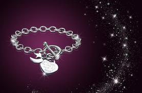 £8 instead of £86 (from My Boutique Store) for a rhodium-plated 'I Love You To The Moon & Back' bracelet - save 91%