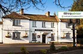£79 (at White Horse Hotel, Hertingfordbury) for an overnight stay for 2 inc. 3-course dinner and breakfast, £89 with a bottle of prosecco - save up to 36%