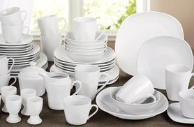 £34.99 instead of £89.99 (from Dinner Warehouse) for a 50-piece white porcelain dinnerware set - save 61%