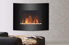 £59 instead of £91.99 for a stylish flame-effect stove, or £79 for a wall-mounted glass fire from Wowcher Direct - save up to 36%