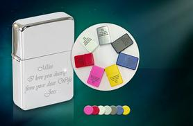 £7.99 instead of £28.99 (from Colour my Wall) for a personalised flip top lighter - get a special message engraved and save 72%