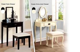 £79.95 instead of up to £199 (from Mattress Shed) for a 3-piece vintage-style dressing table, mirror and stool set - save up to 55%