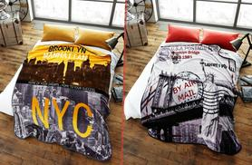 £12 instead of £28.99 (from Your Essential Store) for a faux fur throw - choose from 6 city print designs & save 59%