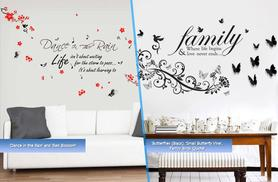 £12 instead of £29.99 for a duo pack of inspirational wall quote stickers from Wowcher Direct - choose from 7 designs & save 60% + DELIVERY INCLUDED!
