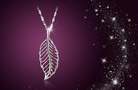 £12 instead of £75 (from Jewel Unique) for a long line white gold plated feather pendant necklace - save 84%