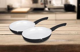 £9.99 instead of £40.01 for a 2-piece ceramic pan set from Wowcher Direct - save 75%