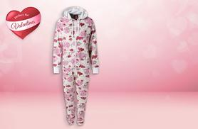 £9.99 instead of £49.99 (from Top Notch Fashion) for a unisex heart patterned Valentine's fleece onesie - save 80%