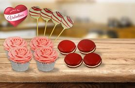 £6 instead of £25 for a 12-piece Valentine's Day gift box including 4 cupcakes, 4 macarons and 4 cake pops from ButtercupCakes - save up to 76%