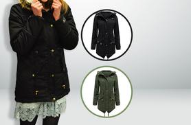 £24 instead of £89.99 (from Top Notch Fashion) for a ladies' fishtail parka jacket - choose black or khaki & save 73%