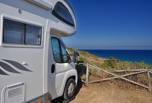 £289 (from Unbeatable Hire) for 7 nights' small campervan hire (up to 3 people), £299 for medium (up to 4) or £309 for large (up to 7)