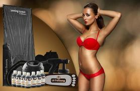 £79 instead of £249.40 (from LA Tanning) for a 13-piece home spray tanning kit inc. tanning curtain, spray gun & more - save 68%