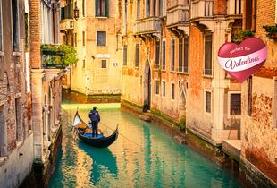 From £409pp (with ClearSky) for a 2-night Valentine's Venice break including flights, breakfast and a gondola ride, from £429pp for 3 nights