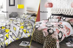 £16.99 (from Interior Fabrics) for a single duvet set designed by Myleene Klass, £24.99 for a double, £31.99 for a king - save up to 43%
