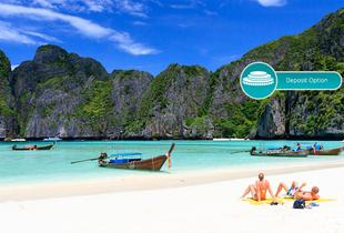 From £699pp for a 10-night Bangkok, Phuket & Phi Phi or Koh Lanta, Thailand trip, flights & ferry transfer, from £799pp for 14 nights, pay a £350 deposit - save up to 25%