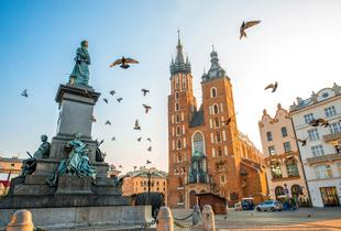 From £79pp for a two-night 4* Krakow break including breakfast, flights and optional Auschwiz or Schindler's List Tour, from £119pp for three nights - save up to 51%