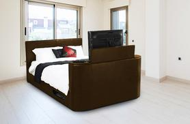 £299 for a double Hollywood faux leather TV bed frame or £399 for super king size from Wowcher Direct - save up to 47%