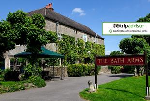 £69 (at The Bath Arms) for a 1-night stay for 2 inc. b'fast & late check-out, £129 to inc. 2 adult tickets to Longleat Safari Park - save up to 54%