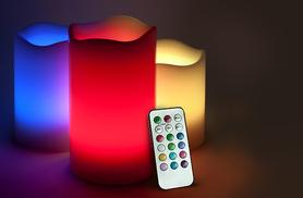 £9.99 instead of £39.99 (from SA Products) for three vanilla scented colour changing LED candles - save 75%