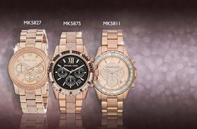 From £159 (from Kendor Van Noah) for a ladies' Michael Kors stainless steel watch - choose from 5 designs & save up to 50% + DELIVERY INCLUDED!