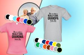 £8 (from CharGrilled) for a 'This is what a really cool grandma/grandpa looks like' T-shirt, or £14.99 for two T-shirts - save up to 47%