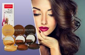 £12 instead of £17.01 for a pack of three Bourjois Paris little round eyeshadow pots from Wowcher Direct - save 29%