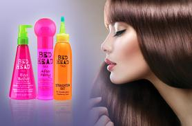 £6.99 for a bottle of TIGI Bed Head conditioner or straightening cream, or £7.99 for After Party Frizz Control from Wowcher Direct - save up to 46%