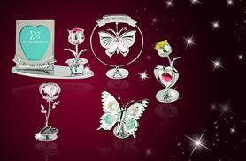 From £4.99 instead of £12 for a Mother's Day crystal ornament made with Swarovski Elements - choose from 9 designs and save up to 58%