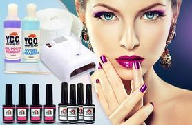 £55 (from Vivre International) for a 12-piece UV hybrid gel polish kit, £65 for 14-piece or £75 for 16-piece - save up to 78%