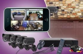 £139 (from Wowcher Direct) for a smartphone-controlled DVR surveillance system with 4 cameras - DELIVERY INCLUDED!
