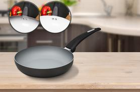 £7.99 for a 20cm colour-changing non-stick Tower frying pan, £9.99 for 24cm, £11.99 for 28cm, or £27.99 for a set of all three - save up to 58%