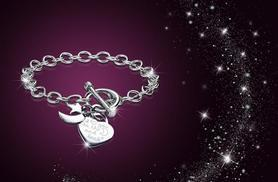 £8 instead of £89.99 (from My Boutique Store) for a rhodium-plated  'I love you to the moon & back' bracelet - save 91%