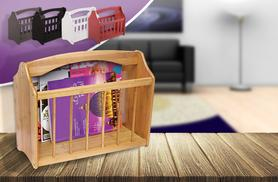 £7.99 instead of £19.99 (from Zoozio) for a bamboo magazine rack - choose from 5 colours & save 60%