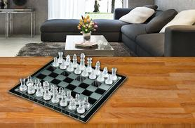 £7.99 instead of £19.99 (from The Treasure Chest) for a 32-piece glass chess set and board - 'check' it out and save 60%